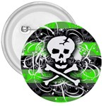 Deathrock Skull 3  Button