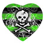 Deathrock Skull Ornament (Heart)