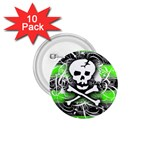 Deathrock Skull 1.75  Button (10 pack)