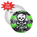 Deathrock Skull 2.25  Button (100 pack)