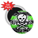 Deathrock Skull 2.25  Magnet (100 pack)