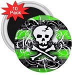 Deathrock Skull 3  Magnet (10 pack)