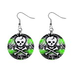 Deathrock Skull 1  Button Earrings