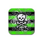 Deathrock Skull Rubber Coaster (Square)