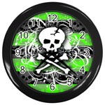 Deathrock Skull Wall Clock (Black)
