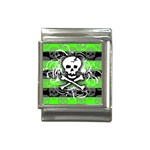 Deathrock Skull Italian Charm (13mm)