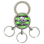 Deathrock Skull 3-Ring Key Chain