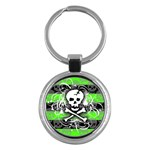 Deathrock Skull Key Chain (Round)