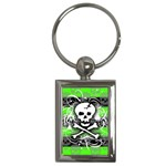 Deathrock Skull Key Chain (Rectangle)
