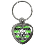 Deathrock Skull Key Chain (Heart)
