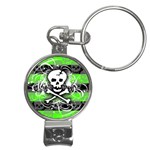 Deathrock Skull Nail Clippers Key Chain