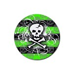 Deathrock Skull Rubber Round Coaster (4 pack)