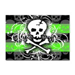 Deathrock Skull Sticker (A4)