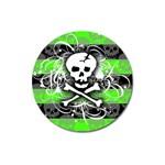 Deathrock Skull Magnet 3  (Round)
