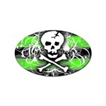 Deathrock Skull Sticker Oval (10 pack)