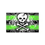 Deathrock Skull Sticker Rectangular (10 pack)