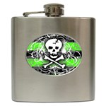 Deathrock Skull Hip Flask (6 oz)