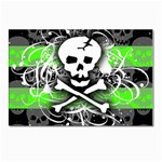 Deathrock Skull Postcard 4 x 6  (Pkg of 10)