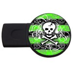 Deathrock Skull USB Flash Drive Round (2 GB)