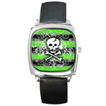 Deathrock Skull Square Metal Watch