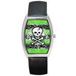 Deathrock Skull Barrel Style Metal Watch