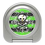 Deathrock Skull Travel Alarm Clock