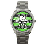 Deathrock Skull Sport Metal Watch