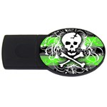 Deathrock Skull USB Flash Drive Oval (4 GB)