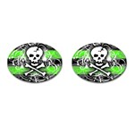 Deathrock Skull Cufflinks (Oval)