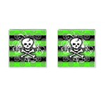 Deathrock Skull Cufflinks (Square)
