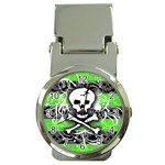 Deathrock Skull Money Clip Watch