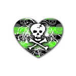 Deathrock Skull Rubber Coaster (Heart)