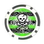Deathrock Skull Poker Chip Card Guard (10 pack)