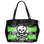 Deathrock Skull Oversize Office Handbag (Two Sides)