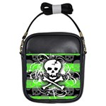 Deathrock Skull Girls Sling Bag