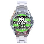 Deathrock Skull Stainless Steel Analogue Men's Watch