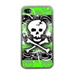 Deathrock Skull Apple iPhone 4 Case (Clear)