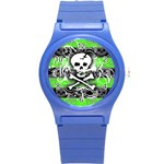 Deathrock Skull Round Plastic Sport Watch Small