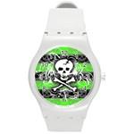 Deathrock Skull Round Plastic Sport Watch Medium