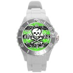Deathrock Skull Round Plastic Sport Watch Large