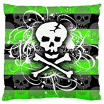 Deathrock Skull Large Cushion Case (One Side)