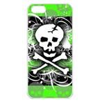 Deathrock Skull Apple iPhone 5 Seamless Case (White)