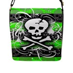 Deathrock Skull Flap Closure Messenger Bag (Large)