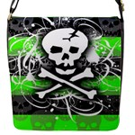 Deathrock Skull Flap closure messenger bag (Small)