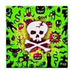 Deathrock Skull & Crossbones Tile Coaster