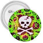 Deathrock Skull & Crossbones 3  Button