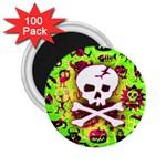 Deathrock Skull & Crossbones 2.25  Magnet (100 pack)