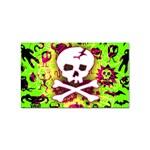 Deathrock Skull & Crossbones Sticker (Rectangular)