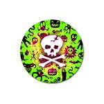 Deathrock Skull & Crossbones Magnet 3  (Round)