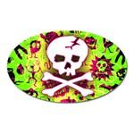 Deathrock Skull & Crossbones Magnet (Oval)